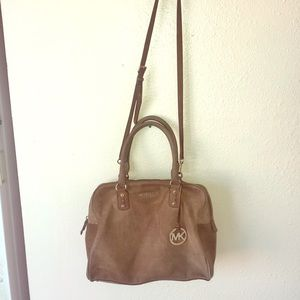 Hamilton Ns Ostrich Distressed Brown Leather Tote